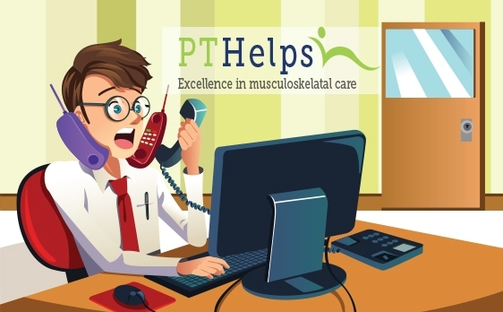 Incoming call training for physical therapists