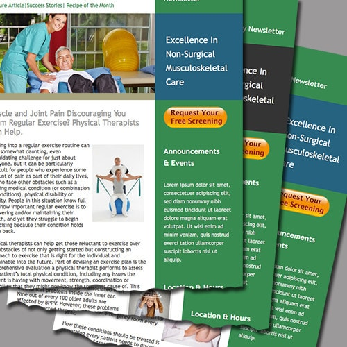 physical therapy email marketing