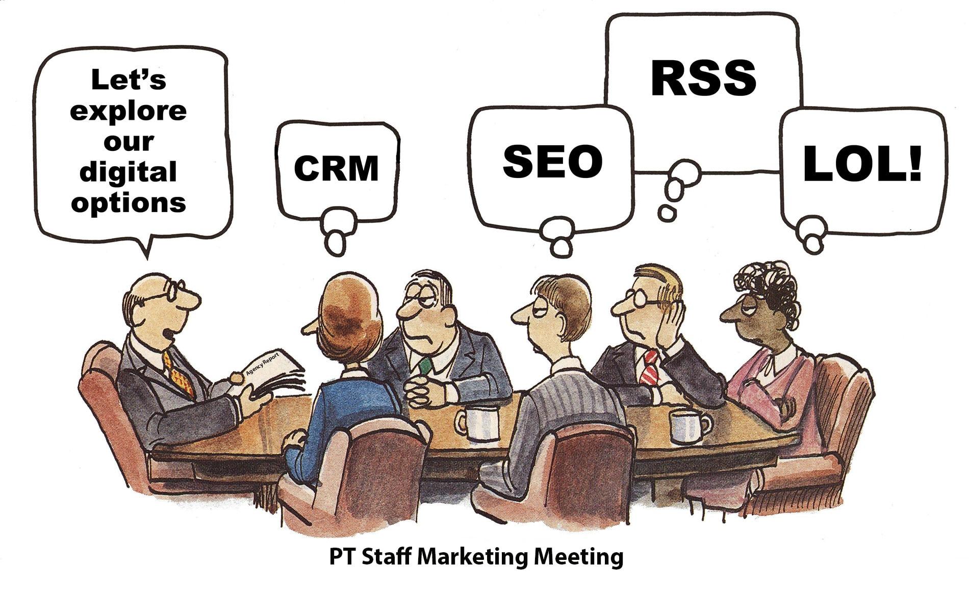 PT Website article feature image - marketing meeting cartoon